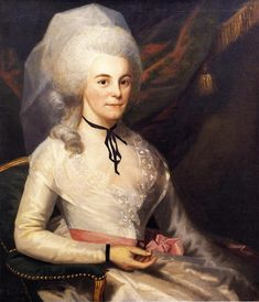 Mrs. Alexander Hamilton, 1787 by Ralph Earl. Rococo. portrait