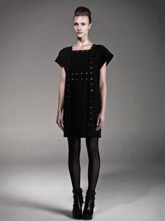 Stud dress by Carla Rodriguez.