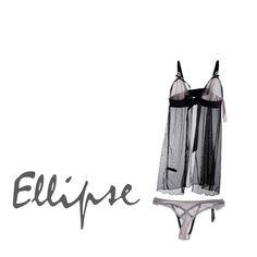 Sorprende a tu pareja con esta sensual pijama de Ellipse, inspirada en la época barroca, con bordados recargados y cortes rotundos.