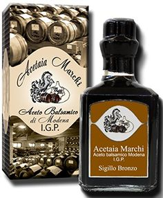 Balsamic Vinegar of Modena I.G.P. Bronze Seal in bottles of 250 cc- Acetaia Marchi http://www.amazon.co.uk/dp/B00Q70D96E/ref=cm_sw_r_pi_dp_YQ3Eub19P8FH8