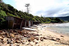 stevielovesphotography: Boat Sheds, Sandon Point, NSW, Australia. Beach scene.