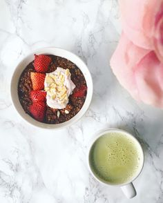 Chocolate and Strawberry Baked Oats