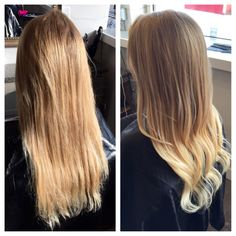 Before and after ombré by me
