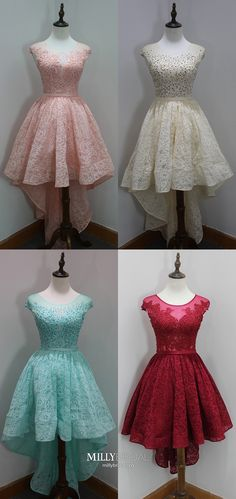 Pink Homecoming Dresses Short, High Low Homecoming Dresses A Line, Lace Homecoming Dresses Tulle, Beading Homecoming Dresses Elegant Vintage Homecoming Dresses, High Low Prom Dresses, Prom Dresses For Teens, Dresses Short, Cheap Prom Dresses, Modest Dresses, Graduation Dresses, Pageant Dresses, Formal Dresses