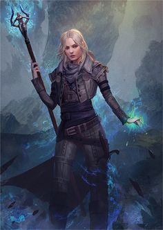 f Warlock w staff underdark female ice mage dragon age inquistion rpg dnd D&D RPG fantasy character concept art Leaena by GerryArthur on DeviantArt 3d Fantasy, Fantasy Warrior, Fantasy Women, Fantasy Girl, Fantasy Artwork, Elves Fantasy, Dnd Characters, Fantasy Characters, Female Characters