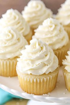 """These Vanilla Cupcakes are super moist, light and fluffy and really make a great cupcake! There are a couple different recipes on my site for Vanilla Cupcakes, but these are my all-time favorite! So here's the funny thing about recipes – not everyone has the same opinion about them. What makes the """"perfect"""" vanilla cupcake …"""