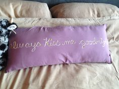 Embellish a simple pillow with fabric paint or make your own.