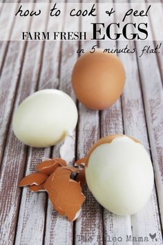 I have a secret. Check out this post to see how to peel farm fresh eggs without making them look like something out of a horror movie! You'll love me! http://thepaleomama.com/2015/12/how-to-peel-farm-fresh-eggs/