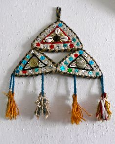 Bought in Selcuk, Turkey, 2011 Textile Jewelry, Textile Art, Beaded Embroidery, Embroidery Designs, Jewish Crafts, Kinds Of Fabric, Textiles, Iron Age, Diy Sewing Projects