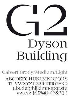 Calvert Brody typeface by Neville Brody and Henrik Kubel