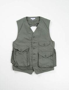 Engineered Garments Olive Ripstop C–1 Vest. Please follow me