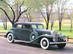 Cars 1933 Stutz Monte Carlo DV32 4 Door Sedan Dark Green Fvr