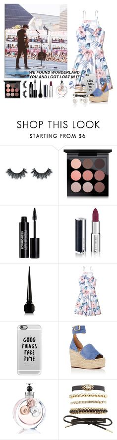 """""""Watching Shawn's concert"""" by imagine-harry on Polyvore featuring MAC Cosmetics, Edward Bess, Givenchy, Christian Louboutin, Hollister Co., Casetify, Chloé, Valentino, Charlotte Russe e makeup"""