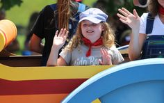 Cute little girl in the parade