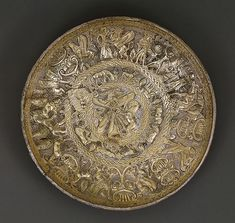Bowl, ca. 725–675 b.c.; Archaic Cypriot; Said to be from Kourion Gilt silver; H. 1 1/4 in. (3.10 cm)