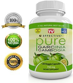 """Effective PURE GARCINIA CAMBOGIA Extract - As Seen On TV - RAPID FAT BURNER - Proven Premium Formula - FAST WEIGHT LOSS - Diet Pills - 4500 mg Daily - """"Pure"""" POTENT 60% HCA - Plus Appetite Suppressant - 100% LIFETIME GUARANTEE - 120 Pure Veggie"""