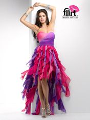 #FlirtProm P4609 multi color prom dress #promdress #FormalApproach #Prom