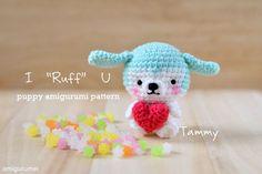 "I ""Ruff"" U, Puppy Amigurumi, thanks so for sharing xox  ☆ ★   https://www.pinterest.com/peacefuldoves/"