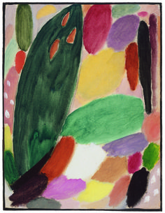 Alexej von Jawlensky  Variation – Rêve d'or, 1918 -   Oil on linenstructured card mounted on cardboard
