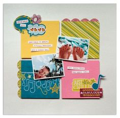 Spring Break Be Young Stack Pack Scrapbook Layout Project Idea