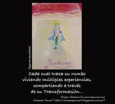 Cada cual traza su rumbo viviendo múltiples experiencias, compartiendo a través de su Transformación... // Dibujo de Joanna Powell // Grupo Artemorilla (www.artemorilla.com) // Suzanne Powell (http://suzannepowell.blogspot.com.es/)