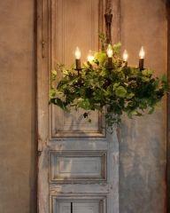 席次表 ロール グレーカラー 手作りキット 10部 ジィールオンラインショップ Outdoor Design, Event Inspiration, French Country Design, Hanging Lamp, Chandelier, Arrangement, Interior, Dried Flowers, Flower Installation