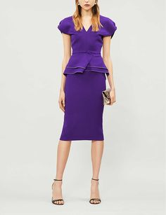 ROLAND MOURET - Wilder wool-crepe dress | Selfridges.com