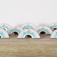 Be Kind enamel pin badge in super pretty pastel rainbow & rose gold! 30mm 5 colour luxury hard enamel lapel pin with rose gold finish. Each comes on a cute backing card. Designed by Rachel Basinger.