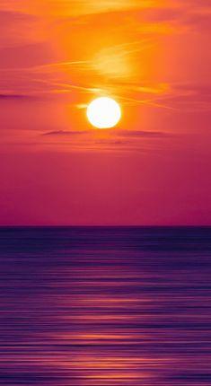 Seascape, pinkish sea, sunset 5k, 1440x2630 wallpaper
