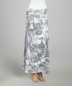 Loving this Gray & White New York Photo Maxi Skirt on #zulily! #zulilyfinds $14.99, regular 40.00