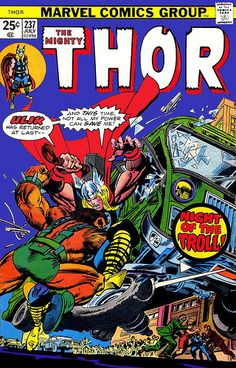 Thor 237 1975 cover by Gil Kane and John Romita Sr