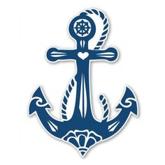 Anchor Vinyl Sticker - Car Window Bumper Laptop - SELECT SIZE
