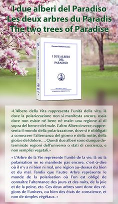 "Italien : nouvelle traduction de l'ouvrage ""Les deux arbres du Paradis"" disponible / Prosveta Italia: new translation of the book 'The two trees of Paradise' (Not yet translated into English) En italien : www.prosveta.com/api/product/C0003IT En français : www.prosveta.com/api/product/C0003FR"