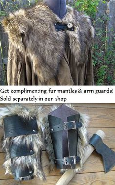 Viking Fur Leggings / Boot Covers Leg Warmers by FolkOfTheWood