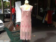 Flapper Dress. Pink. 1920's . Handbeaded. от JulieVintageBoutique