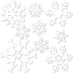 Vorlage für Fensterbilder aus Transparentpapier - Schneeflöcke