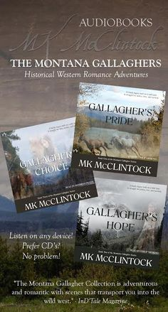 The Montana Gallagher Book Collection by Author MK McClintock; now on audio #book Warm those clicking finger up for the $50 Author #MKMcClintock Sponsored Amazon Gift Card or PayPal Cash Giveaway! Giveaway will end March 31, 2015.