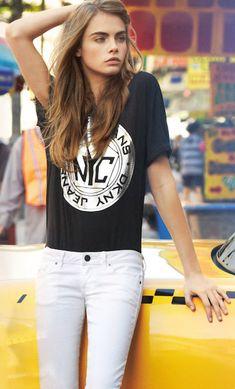 #street #fashion Cara Delevingne casual @wachabuy