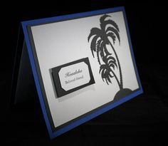 hawaiian friendship card, palm tree card, blue  hawaiian card, hawaii love cards, made in hawaii, gift for her, gift for him. by xoxoTi on Etsy