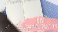 Vim mostrar para vocês o modelo de journal que eu criei e ensinar como montar um insert para traveler's notebook com ele. Post no blog (onde baixar o arquivo...