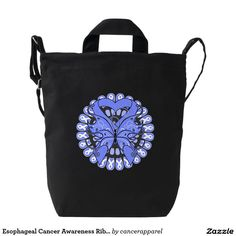 Esophageal Cancer Awareness Ribbon Butterfly Baggu Duck Bags by cancerapparelgifts.com