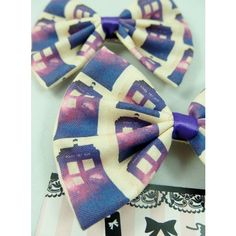 Doctor Who Galaxy Purple Nebular Tardis Hair Bow Whovian Nerd Hair... ($6.76) ❤ liked on Polyvore featuring accessories, hair accessories, bow hair clips, blue hair accessories, long hair clips, purple hair clip and purple hair accessories