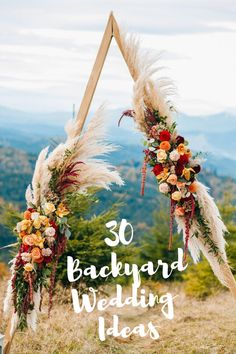 Planning a small wedding? Host your wedding ceremony and wedding reception in your backyard on a budget. Discover how to transform your backyard into an elegant wedding venue with my selection of rustic and bohemian backyard wedding ideas. Click the link to discover how you can decorate your backyard wedding on a budget. #weddingonabudget #backyardweddingideas #outdoorwedding  #summerwedding #rusticwedding #bohowedding