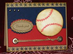 WT217 baseball sponsor thank you by momma2pie - Cards and Paper Crafts at Splitcoaststampers