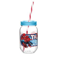 Zak Designs Marvel Comics Mason Jar Tumbler  Ultimate Spider-Man