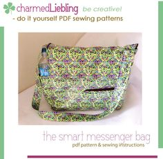 The smart messenger bag by charmed Liebling | Sewing Pattern - Looking for your next project? You're going to love The smart messenger bag by designer charmed Liebling. - via @Craftsy
