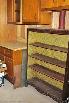 empty shelves, downsizing