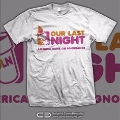 New shirt for our upcoming Our Last Night tour!