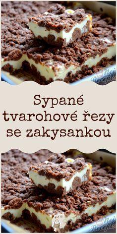 Sweet Desserts, Easy Desserts, Sweet Recipes, Luxury Food, Czech Recipes, Food Platters, Desert Recipes, Cas, Baking Recipes
