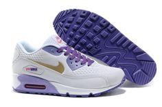 Air Max 90 Premium EM Womens Shoes White Purple